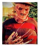 Things Can Get Ugly Fast On Halloween  Fleece Blanket