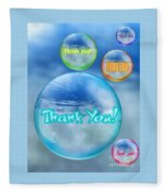 Thank You Bubbles Fleece Blanket