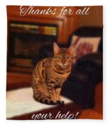 Thanks For All Your Help Fleece Blanket