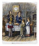 Thanksgiving, 1853 Fleece Blanket