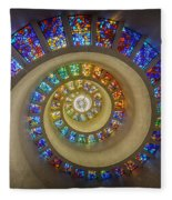 Thanksgiving Chapel Stained Glass Fleece Blanket