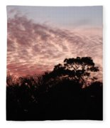 Thanksgiving Sky Fleece Blanket