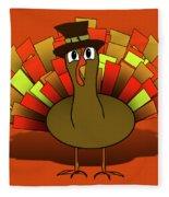 Thanksgiving Turkey Pilgrim Fleece Blanket