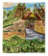 The Langloise Bridge Fleece Blanket