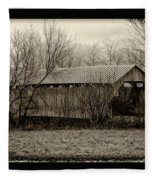 That Old Covered Bridge Fleece Blanket