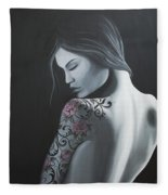 That Tattoo Girl Fleece Blanket