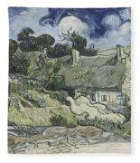 Thatched Cottages At Cordeville Fleece Blanket