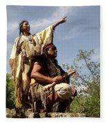 Thats Where I Saw The White Man Fleece Blanket