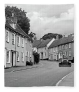 Thaxted Cottages In Black And White Fleece Blanket