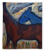 The 1st Mexican Ponies Fleece Blanket