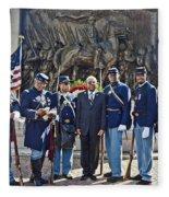 The 54th Regiment Bos2015_191 Fleece Blanket