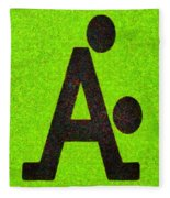 The A With Style Lime - Pa Fleece Blanket