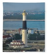 The Absecon Lighthouse In Atlantic City New Jersey Fleece Blanket