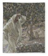 The Accursed Fig Tree Fleece Blanket