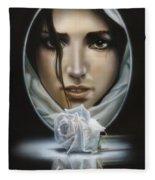 The Face In The Mirror Fleece Blanket