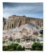 The Acropolis - Athens Greece Fleece Blanket
