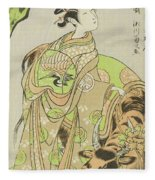 The Actor Segawa Kikunojo II As The Courtesan Maizuru In The Play Furisode Kisaragi Soga Fleece Blanket