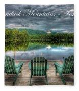 The Adirondack Mountains - Forever Wild Fleece Blanket