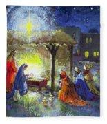 The Adoration Of The Magi  Fleece Blanket