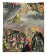The Adoration Of The Name Of Jesus Fleece Blanket