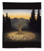 The Adoration Of The Olive Tree Fleece Blanket