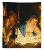 The Adoration Of The Shepherds Fleece Blanket