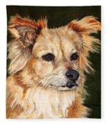 The Adventurous Dog Fleece Blanket