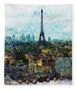 The Aesthetic Beauty Of Paris Tranquil Landscape Fleece Blanket