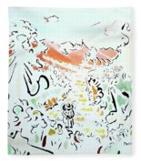 The Afternoon Walk Fleece Blanket