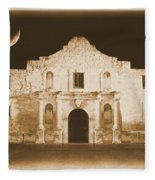 The Alamo Greeting Card Fleece Blanket