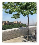 The Alhambra From Sacromonte Fleece Blanket