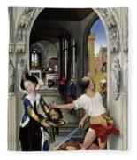 The Altar Of St. John, Right Panel Fleece Blanket