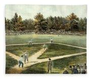 The American National Game Of Baseball Grand Match At Elysian Fields Fleece Blanket