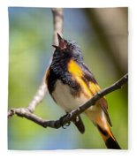 The American Redstart Fleece Blanket