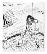 The American Voter Fleece Blanket