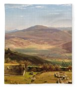 The Amphitheatre Of Tusculum And Albano Mountains. Rome Fleece Blanket