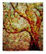 The Ancient Tree Of Wisdom Fleece Blanket