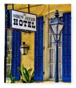 The Andrew Jackson Hotel - New Orleans Fleece Blanket
