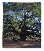 The Angel Oak In Spring Fleece Blanket