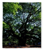 The Angel Oak In Summer Fleece Blanket