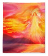 The Angel Of Protection Fleece Blanket