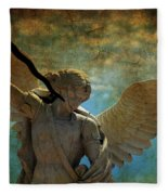 The Angel Of The Last Days Fleece Blanket