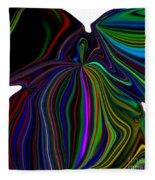 The Angel Of The Rainbow Fleece Blanket