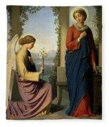 The Angelic Salutation Fleece Blanket