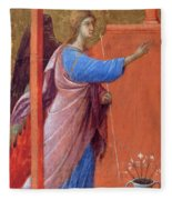 The Annunciation Fragment 1311 Fleece Blanket