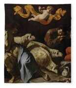 The Annunciation To The Shepherds Fleece Blanket