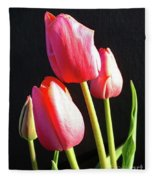 The Appearance Of Spring - Tulips Fleece Blanket