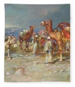 The Arab Caravan   Fleece Blanket