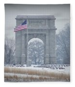 The Arch At Valley Forge Fleece Blanket