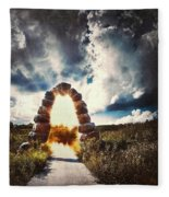 The Arch On The Edge Of Forever Fleece Blanket